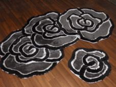 ROMANY GYPSY WASHABLES GERMAN STYLE TRAVELLERS THICK QUALITY SETS OF 4 MATS ROSE